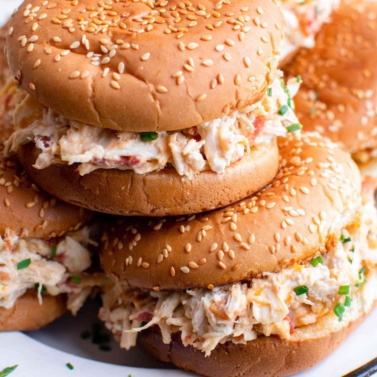 Slow Cooker Crack Chicken Sandwiches