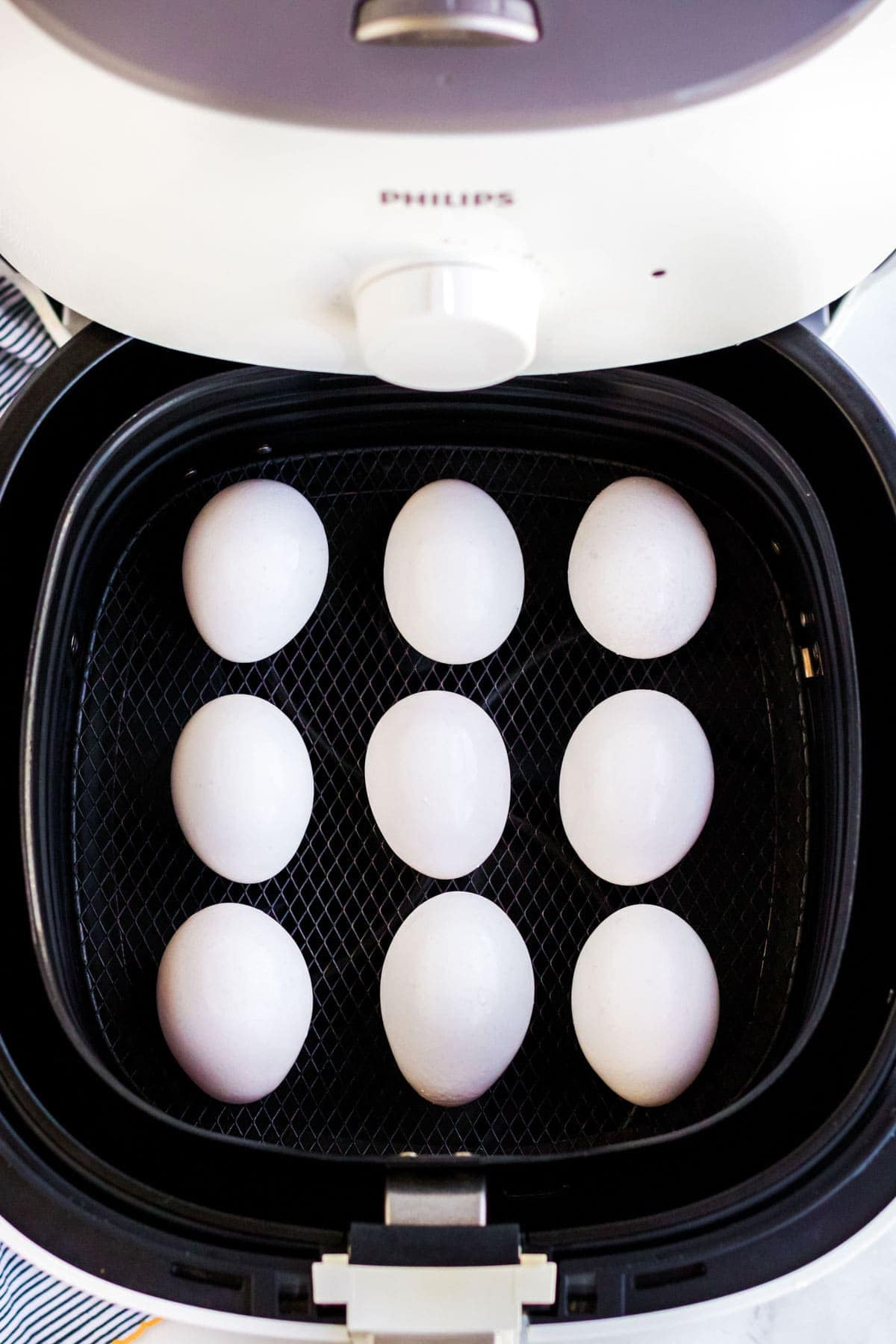 eggs in an air fryer basket