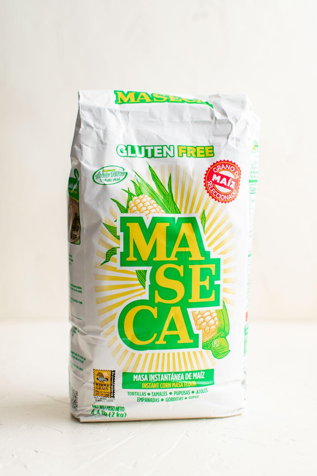 bag of maseca brand corn flour