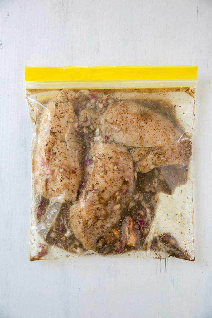 jerk marinade in a bag with chicken breasts