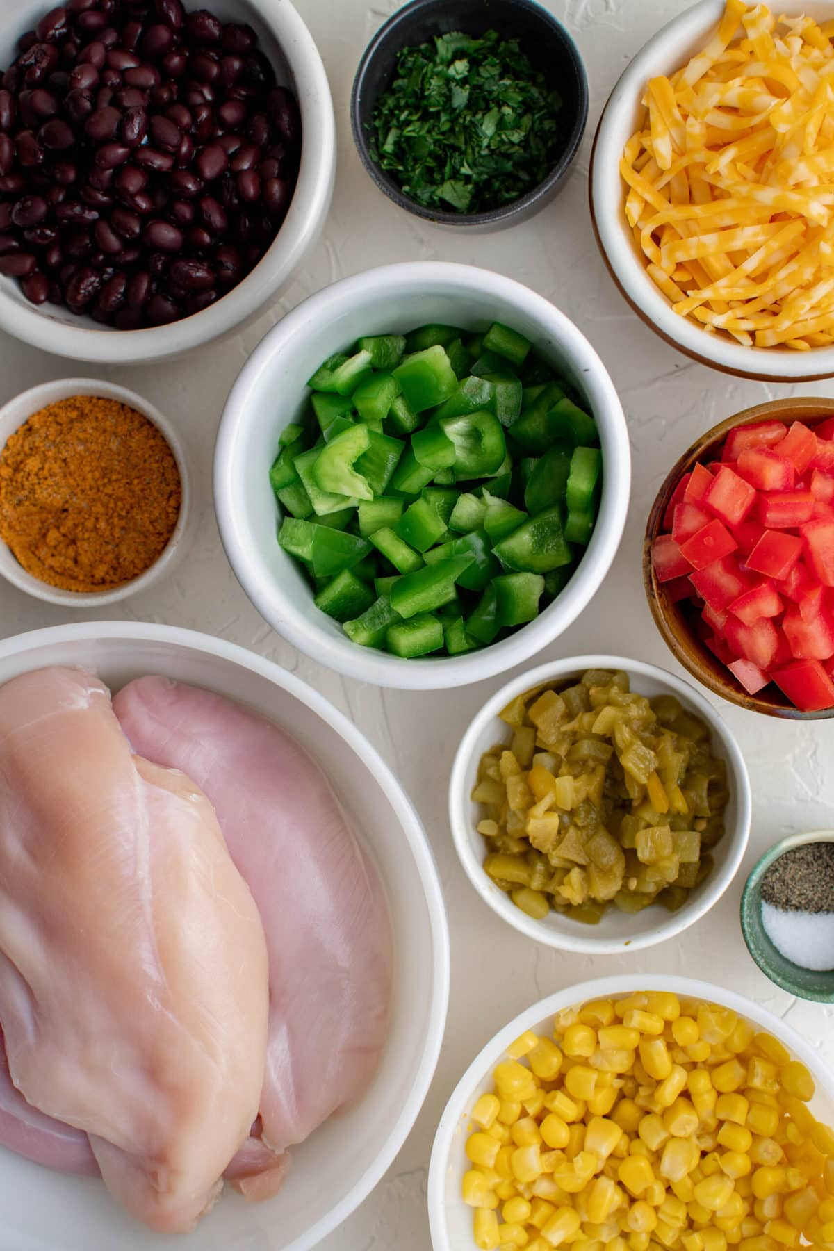 ingredients to make southwest chicken bake