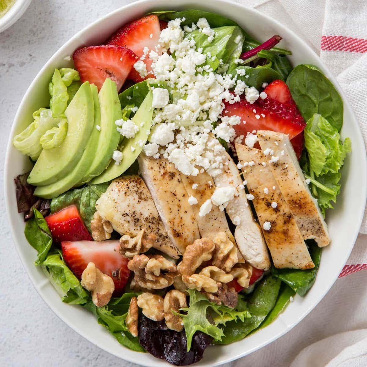 Strawberry Chicken Salad with Citrus Vinaigrette