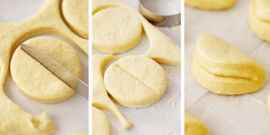 how to shape parker house rolls