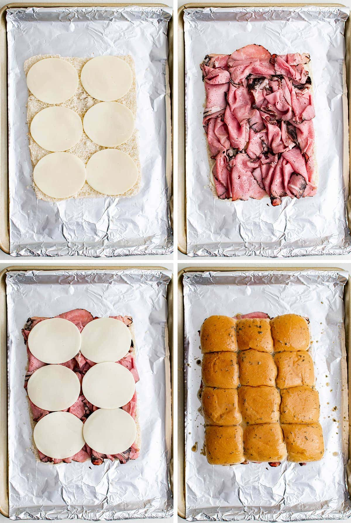 collage of images how to make roast beef sliders