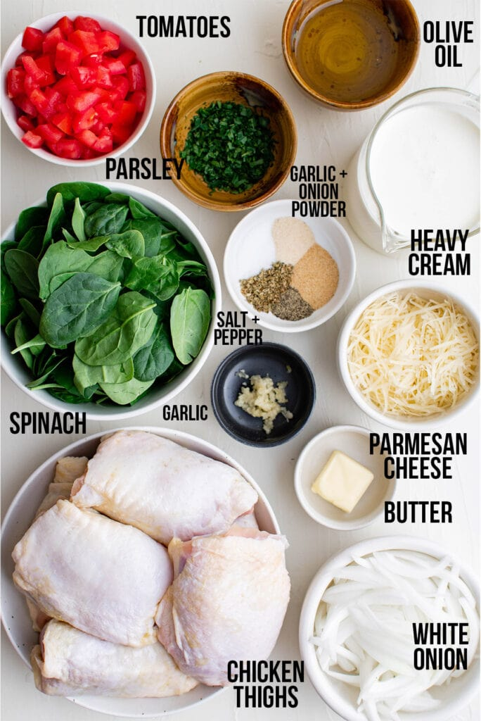 Ingredients for tuscan chicken