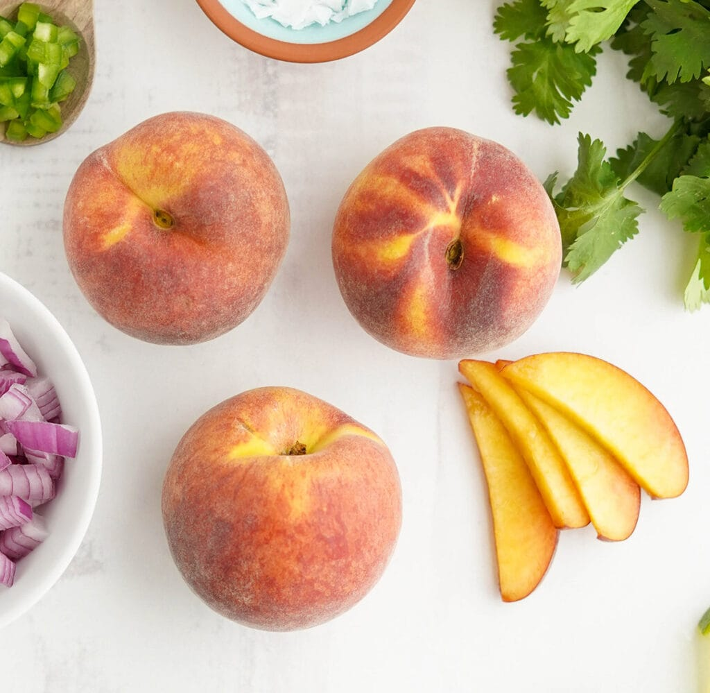 peaches, both whole and slicecd,
