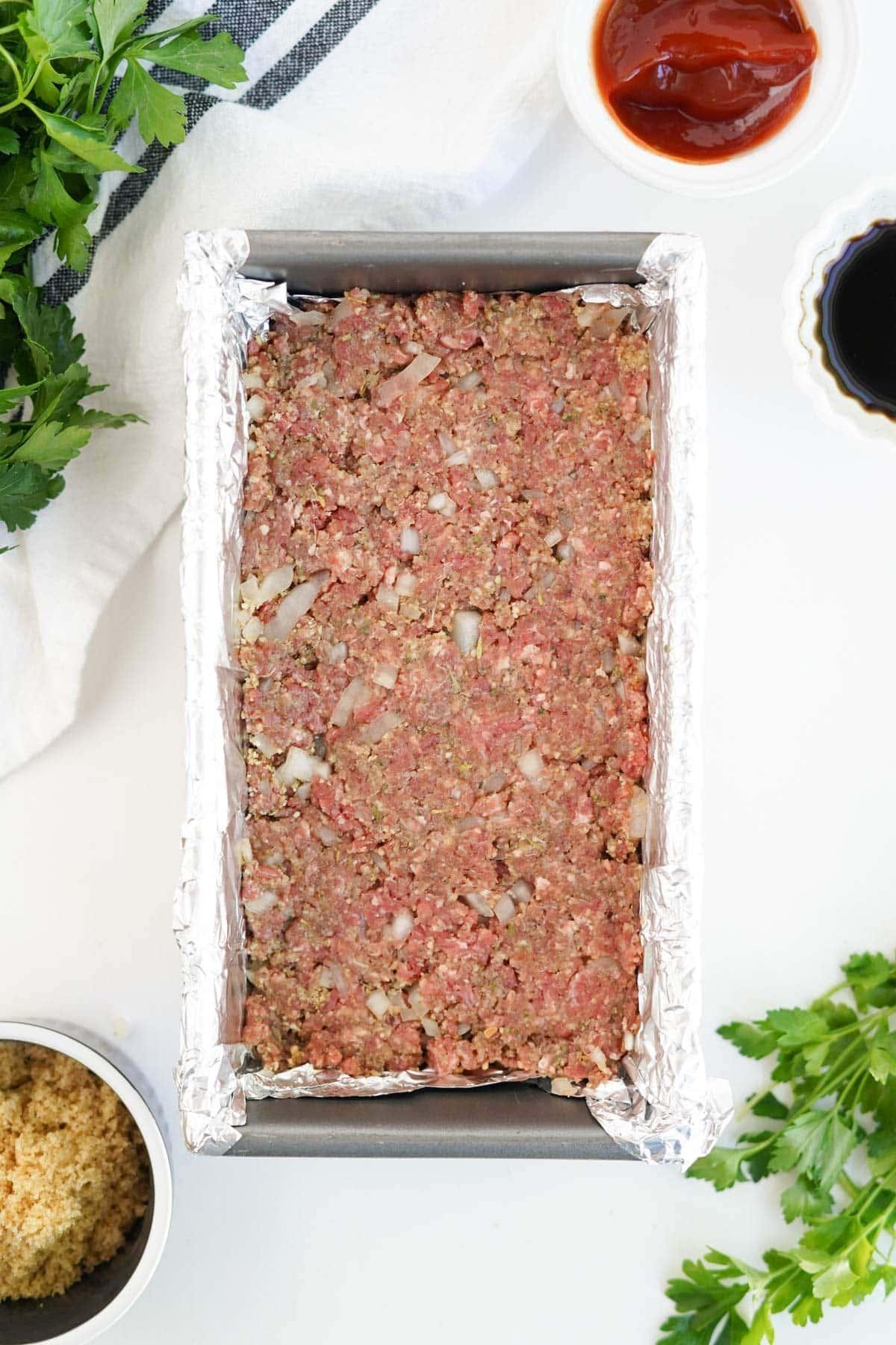 meatloaf in a loaf pan