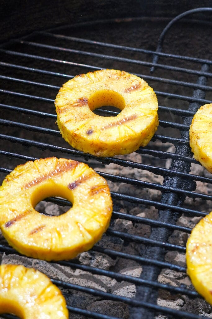 pineapple on a grill