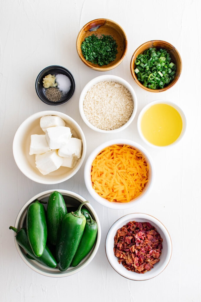 ingredients for jalapeno poppers
