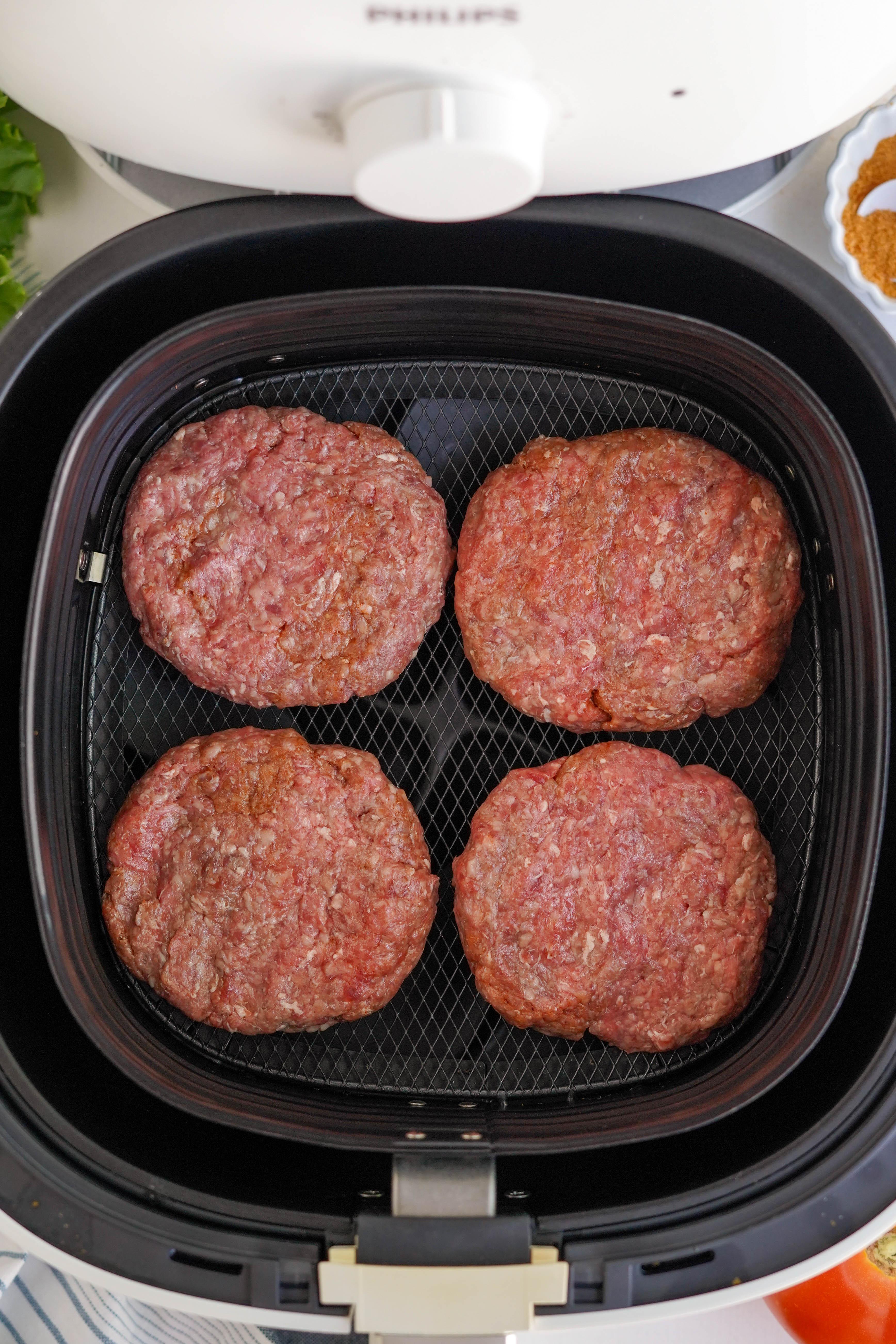 hamburger patties in air fryer