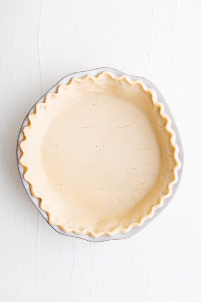pie crust pressed in a pie plate