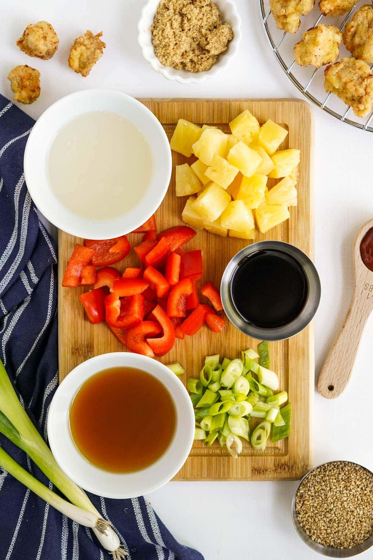 ingredients for making sweet and sour sauce