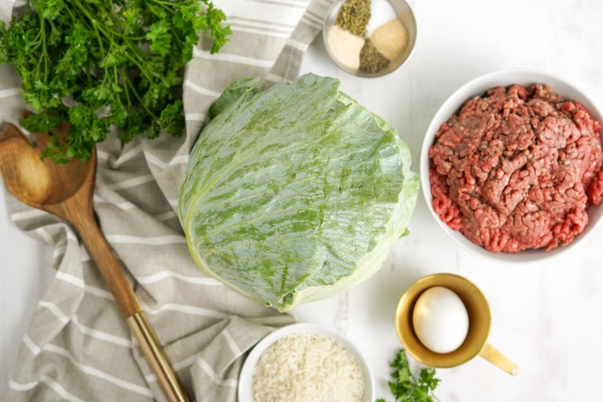 ingredients for cabbage rolls
