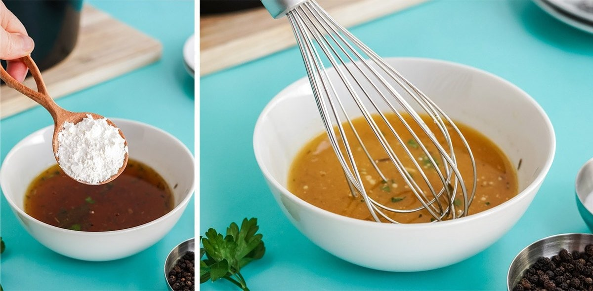 how to make a cornstarch slurry for gravy