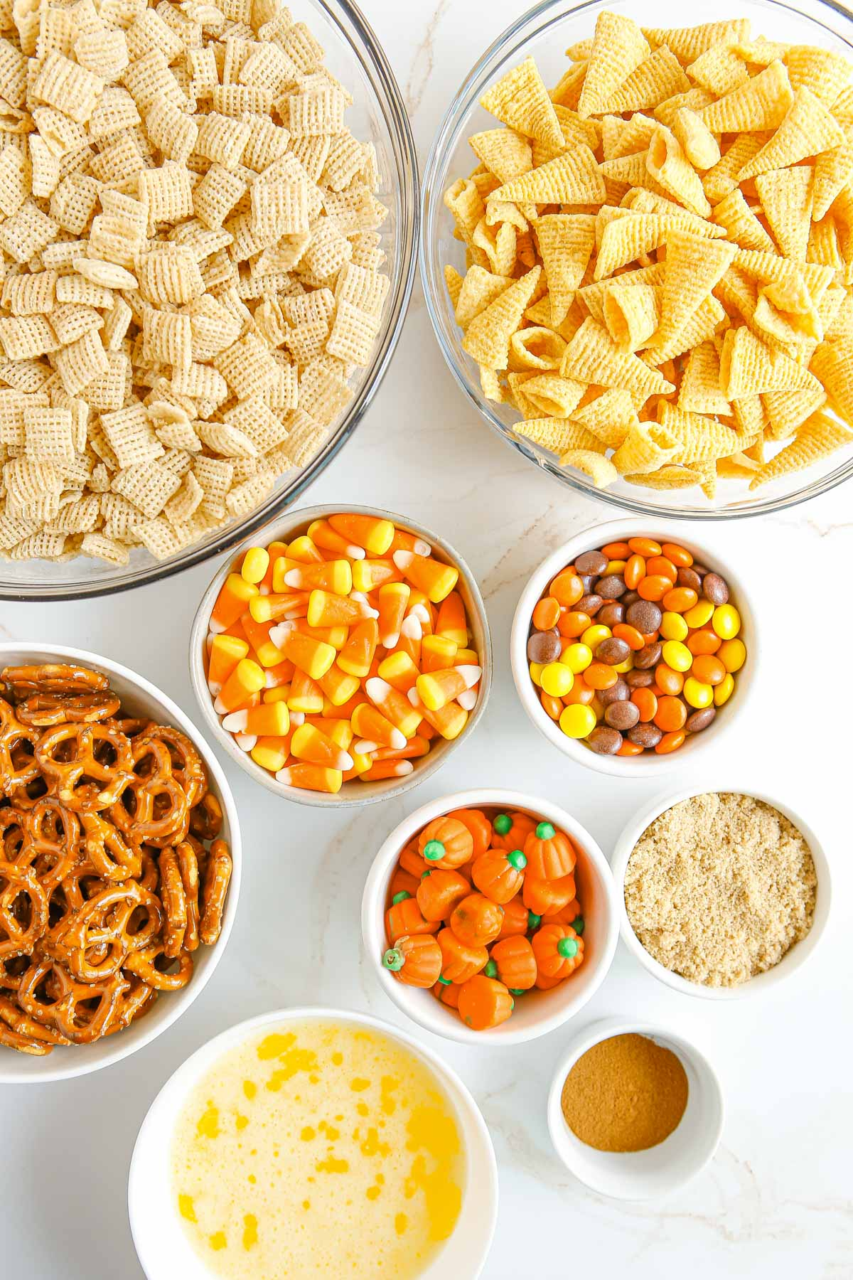 ingredients needed to make harvest chex mix
